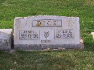 Grave of Philip Dick and his sister Jane